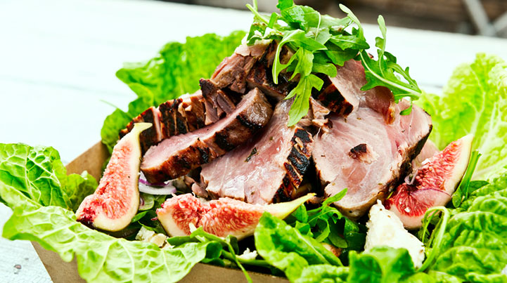 Steak and Edamame